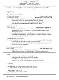 Production Assistant Resume Template Sample Resume Assistant Resume Film Template Format Filmmaker
