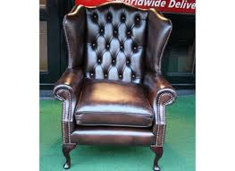 Classic Chair American Style Furniture Sofa Chair Antique Luxury Real Leather
