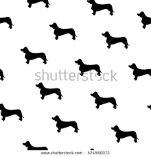 dachshund wrapping paper seamless pattern dog breed dachshund stock vector 524560072
