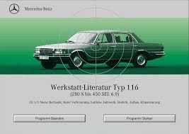 mercedes car manual mercedes w116 workshop manual werkstatt literatur 280s