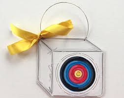 archery ornaments etsy