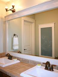 framed mirrors for bathroom vanities framing a bathroom mirror ideas double l shaped brown finish