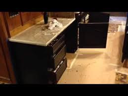Gel Stains For Kitchen Cabinets Gel Stain Glazing Kitchen Cabinet Dark Walnut Youtube