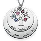 Personalized Family Necklace Amazon Com Personalized Family Necklace Birthstones Pendant 925