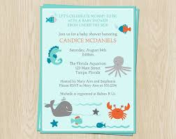 the sea baby shower invitations fish baby shower invitations party xyz