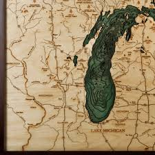 Map Of Davenport Florida by Great Lakes Wood Map Large 3d Nautical Topographic Chart Framed