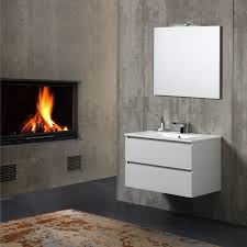 bagno mobile mobile bagno sospeso berlin 80 cm con luce a led kv store