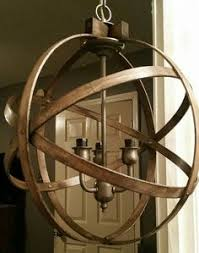 Armillary Sphere Chandelier Wooden Sphere Chandelier Lighting Pinterest Chandeliers