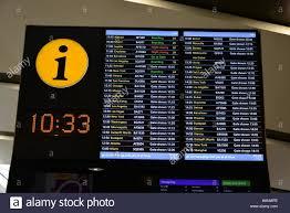 Heathrow Terminal 3 Information Desk Uk London Heathrow Terminal 3 Departures Display Stock Photo