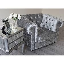 Grey Velvet Chesterfield Sofa Empire 3 2 1 Seater Sofa In Grey Silver Crushed Velvet
