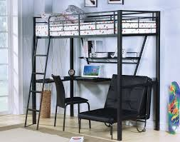 stylish loft bed with futon and desk loft bed with futon and