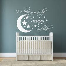 we love you to the moon and back wall decal i love u to the zoom