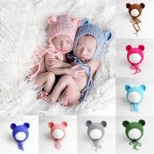 infant photo props handcraft baby hats handmade knitting mohair bonnet hat baby