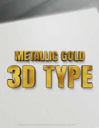 online 3d letters metallic gold 3d type