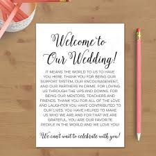 wedding gift letter printable wedding welcome letter instant by alltherageprintables