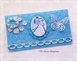 wedding gift or money wedding card handmade blue wedding card wedding gift card money