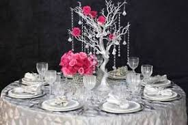party centerpieces 30 silver manzanita tree with garlands wedding party centerpieces