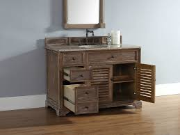 abstron 48 inch driftwood finish single cottage bathroom vanity