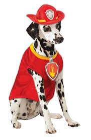 Firefighter Halloween Costume Rubies Paw Patrol Marshall Fire Dog Firefighter Pet Halloween