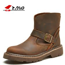 s boots waterproof z suo 100 genuine leather rubber outsole s boots