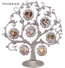 gift tree free shipping new arrival free shipping pewter photo frames family baby tree