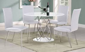 White Table And Chair Set Dining Rooms - Round white dining room table set