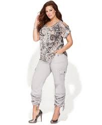inc clothing inc international concepts plus size ruched cargo plus