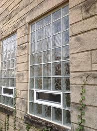 complain over glass block basement windows