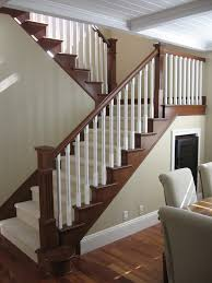 maybe to update stair railing to complement mocha hardwood floors