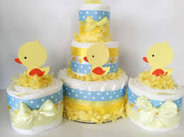 duck baby shower decorations set of 3 rubber duck cakes rubber duck baby shower