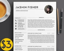 2 Page Resume Template Professional 3 Page Resume Template Cv Extra Page Cover