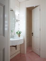 Herringbone Bathroom Floor by Steal This Look Pink Herringbone Bath At Spring In London