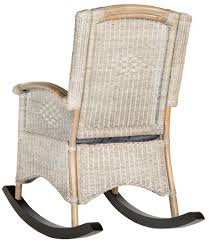 White Wicker Rocking Chair Outdoor Sea8034a Rocking Chairs Furniture By Safavieh