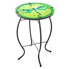 Mosaic Table L Decadent Mosaic Glass Dragonfly Side Table Patio