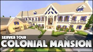 minecraft colonial mansion youtube
