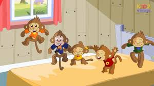 five little monkeys nursery rhyme in english with full lyrics
