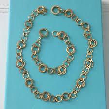 yellow gold necklace set images Tiffany co 18k yellow gold interlocking circles bracelet set jpg