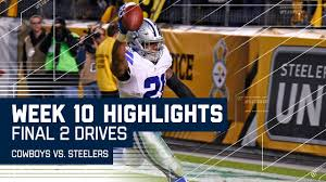 every play from the cowboys vs steelers 2 drives week 10