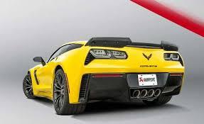 corvette stingray evolution akrapovic exhaust chevrolet corvette zo6 stingray c7 evolution line