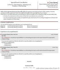 Resume For Wedding Planner Event Manager Resume Event Coordinator Resume Templates