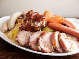 alsace cuisine recipes choucroute garnie à l alsacienne alsatian braised sauerkraut with