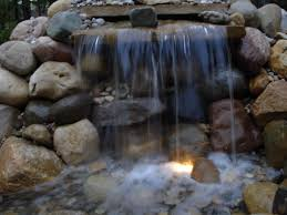 unique stone waterfalls backyard architecture nice