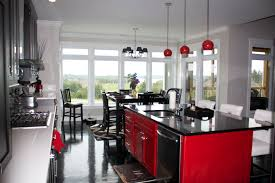 beautiful black and red kitchen taste