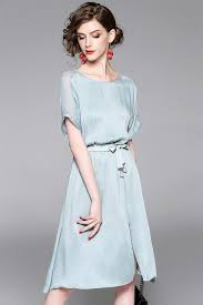 silk dresses 2017 new fashion women s silk dresses sleeves knee