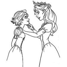 rapunzel and maximus tangled coloring page free u0026 printable