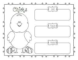bunnies printable easter graphic organizers