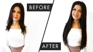 before u0026 after from short hair to kim k u0027s sleek long locks youtube