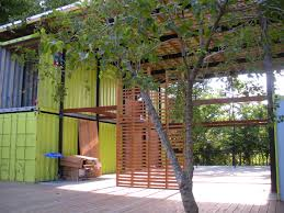 natural simple conex boxes house design with great combination of