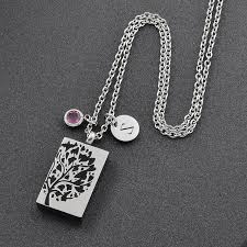 cremation jewelry for men stainless steel cremation jewelry diy necklace men tree of