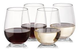 notmog 8 wine glasses set unbreakable stemless plastic drinking
